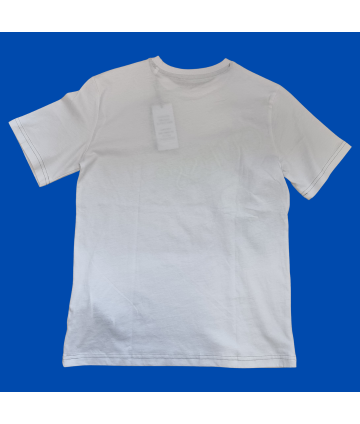 T-shirt bianca con stampa centrale- girocollo- DKNY