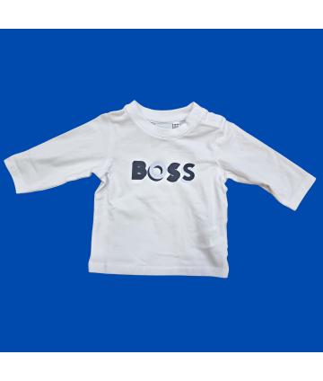T-Shirt bianca- manica corta- fantasia centrale- Manuel Ritz