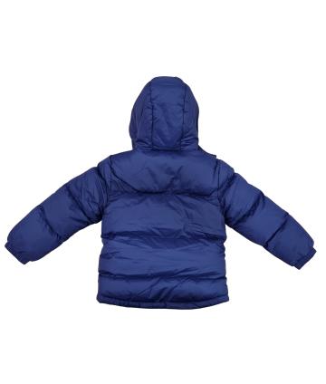 Felpa blu- manica lunga- logo bianco- Replay