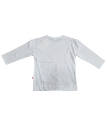T-Shirt bianca-logo- strass spalle- Gaudì