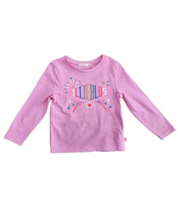 T-Shirt rosa- manica corta- stampa- Vicolo