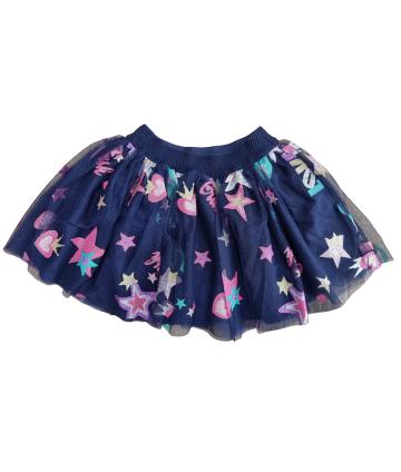T-Shirt bianca- strass azzurri- Vicolo