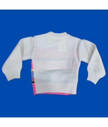 T-Shirt azzurra- manica volantino- stampa ciglia- Vicolo