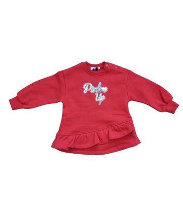 Felpa bianca- logo Papera- Save the duck