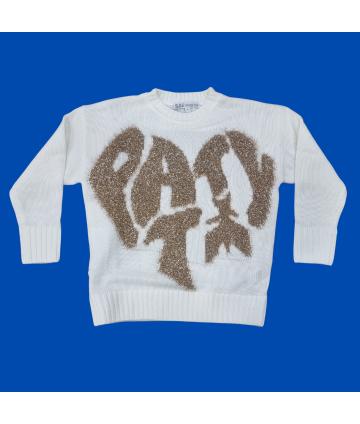 T-shirt bianca- dettagli giallo fluo- Lotto