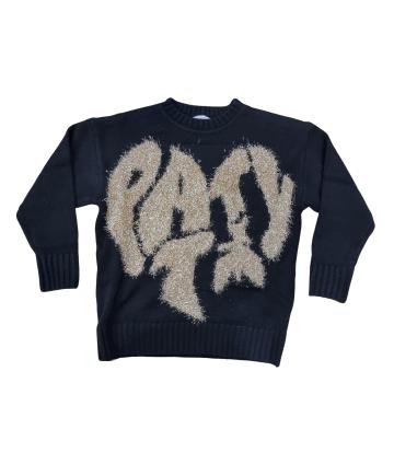 T-Shirt nera- dettagli giallo fluo- Lotto