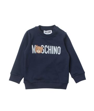 T-Shirt blu- dettagli rossi- logata- Lotto