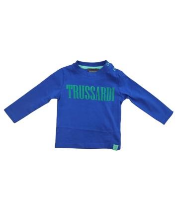 T-Shirt- nera- logata -Lotto