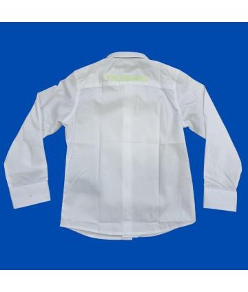 T-shirt bianca-ragazzo- dettagli giallo fluo- Lotto