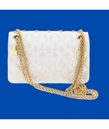 T-shirt- bianca- fiore- Y-Clu