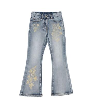 T-Shirt blu- logata arancio fluo- North Sails