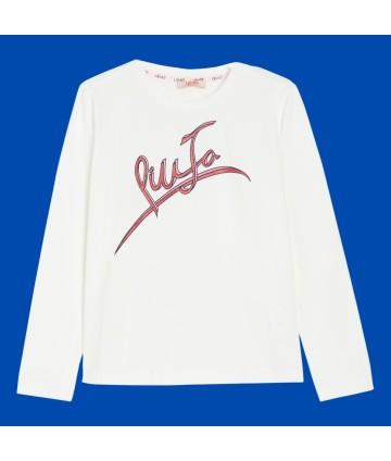 T-Shirt- blu- logata- cagnolino- Harmont&Blaine