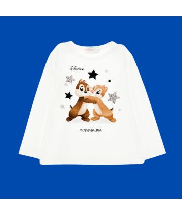 T-Shirt- bianca- stampa player- Bikkembergs
