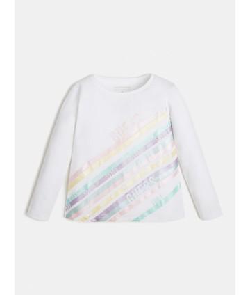T-Shirt rosa- logo strass- Pinko