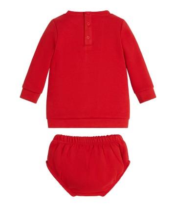 Completo t-shirt e bermuda- rosso- Lotto