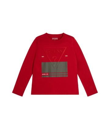 T-Shirt rossa- Le Coq Sportif