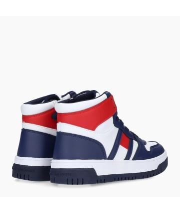 Camicia bianca- logo ricamato blu- Trussardi